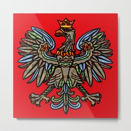 POLISH EAGLE Metal Print