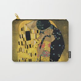 Curly version of The Kiss by Klimt Carry-All Pouch