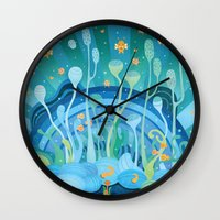 under the sea Wall Clocks featuring Under the Sea by Piktorama