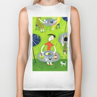 coconut wishes Biker Tanks featuring Coconut curry by AW illustrations