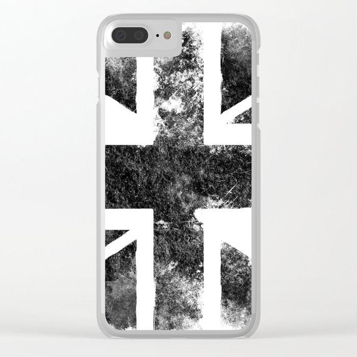 Black UK flag Clear iPhone Case
