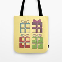 gift card Tote Bags featuring Gift by Robert Leyen