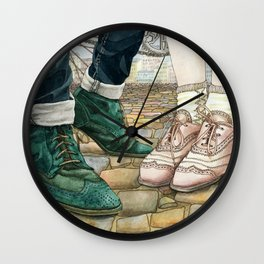 Brogues for a date Wall Clock