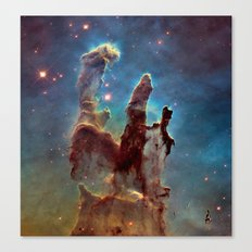 Pillars of Creation NebulA Canvas Print