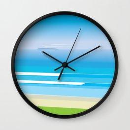 Sunny Beach — View from Omanu Beach Wall Clock