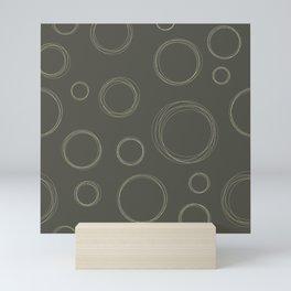 Circle Scribbles Seamless Pattern Mini Art Print