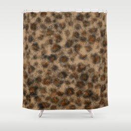 Fuzzy Leopard Shower Curtain