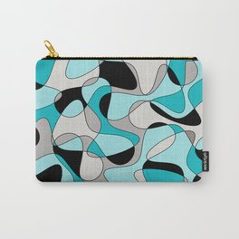 Abstract pattern - black and blue. Carry-All Pouch