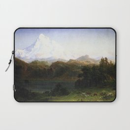 Mount Hood Oregon 1865 1 By Albert Bierstadt | Reproduction Painting Laptop Sleeve