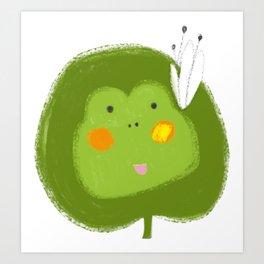 A Little Frog Art Print