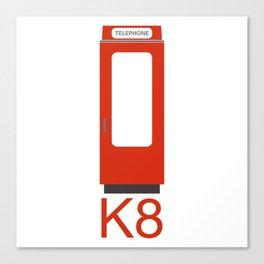 K8 RED PHONE BOX Canvas Print