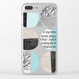 Minimalist tree branc Clear iPhone Case
