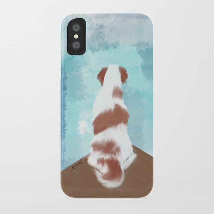 Deschutes The Brittany Spaniel iPhone Case