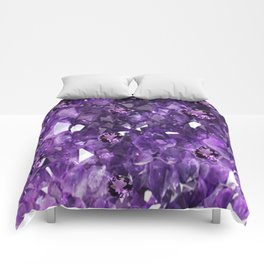 FEBRUARY PURPLE AMETHYST GEMS & CRYSTALS BIRTHSTONE Comforters