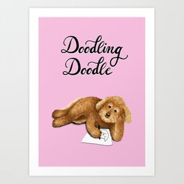 Doodling Doodle (Pink) Art Print