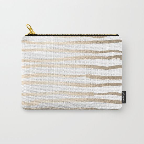 White Gold Sands Painted Lines Carry-All Pouch