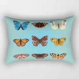 A collection of nine butterflies Rectangular Pillow