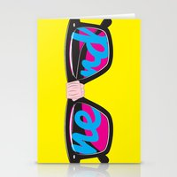 nerd Stationery Cards featuring Nerd by Aaron Synaptyx Fimister