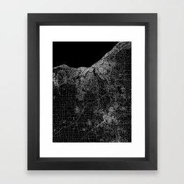 Cleveland map Ohio Framed Art Print