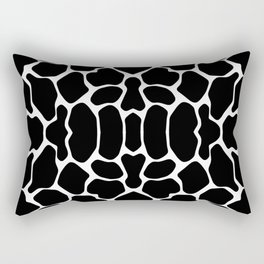 Black Safari Giraffe Rectangular Pillow