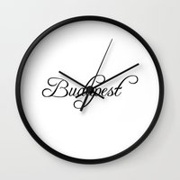 budapest Wall Clocks featuring Budapest by Blocks & Boroughs