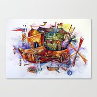 france Canvas Prints featuring France by oxana zaika