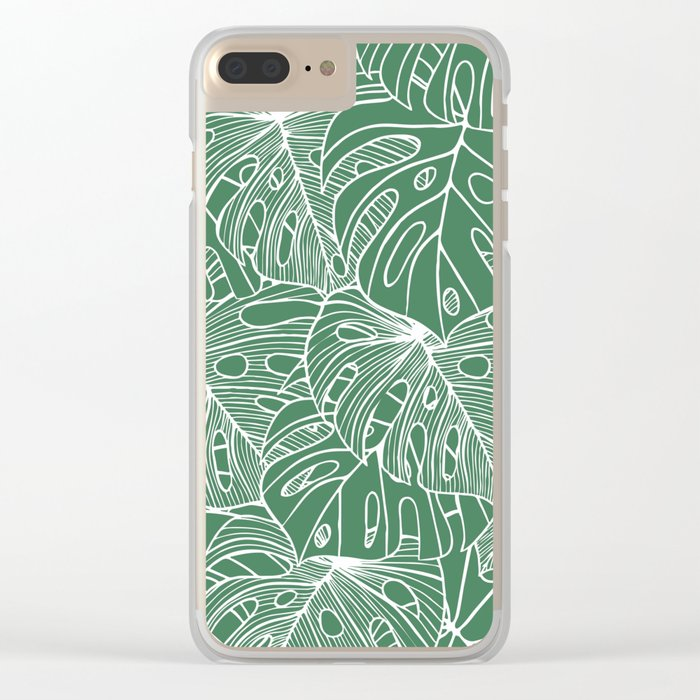 Philodendron Clear iPhone Case