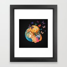 Under the Blue Moon I Saw You Framed Art Print