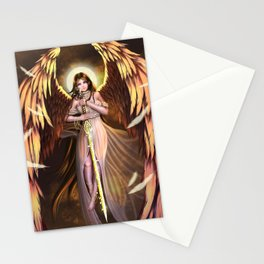 Golden Wings Angel Stationery Cards
