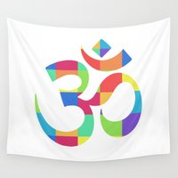 "om Wall Tapestries featuring Om by ""LSC"""