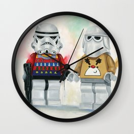 Troopers Christmas Jumper Day at Work Lego  Wall Clock