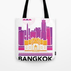 City Illustrations (Bangkok, Thailand) Tote Bag
