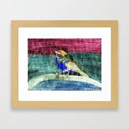 Bunter Vogel Framed Art Print
