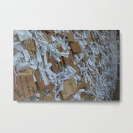 Wish Boards & Fortunes - Shrine at the foot of the mountain Metal Print