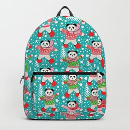Panda's in Fair Isle Jumpers, Christmas, Thanksgiving, Holidays Backpack