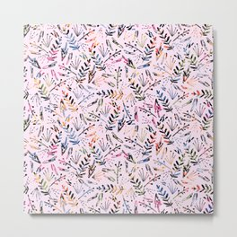 Floral Pop Pattern Metal Print