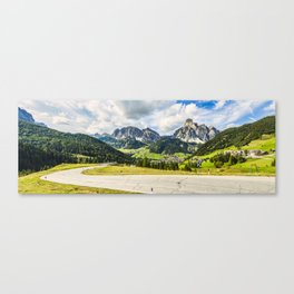 on the roads of dolomites Canvas Print