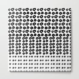 black flowers on a white background Metal Print