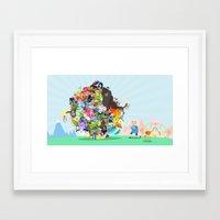 katamari Framed Art Prints featuring Adventure Time - Land of Ooo Katamari by Sin nombre