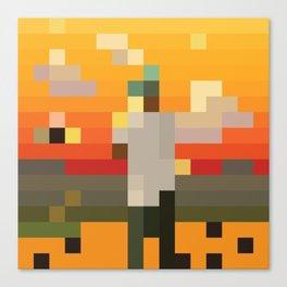 Scum Pixel Flower Boy Canvas Print