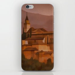 Alhambra Vintage Travel Poster Granada Spain iPhone Skin