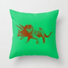 Vintage Toy Dinosaur  |  Triceratops Throw Pillow