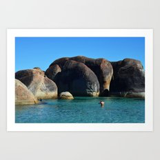 Elephant Rocks Art Print