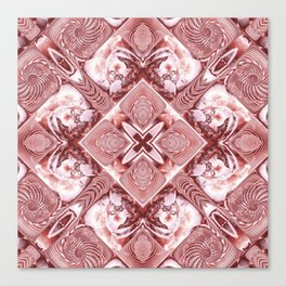 Pink Squares and Twisters Canvas Print