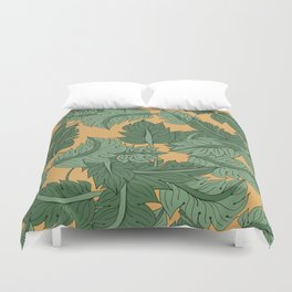 Foliage Yellow Duvet Cover