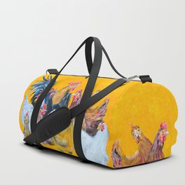 Chickens of Many Colors Duffle Bag