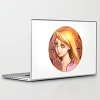 rapunzel Laptop & iPad Skins featuring Rapunzel by Vincent Vernacatola