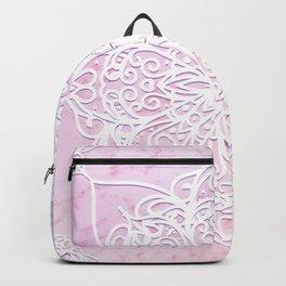 Candyfloss Marble Mandala Backpack