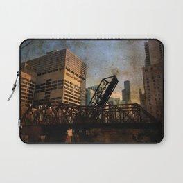 Chicago Skyline Chicago River Drawbridge Laptop Sleeve