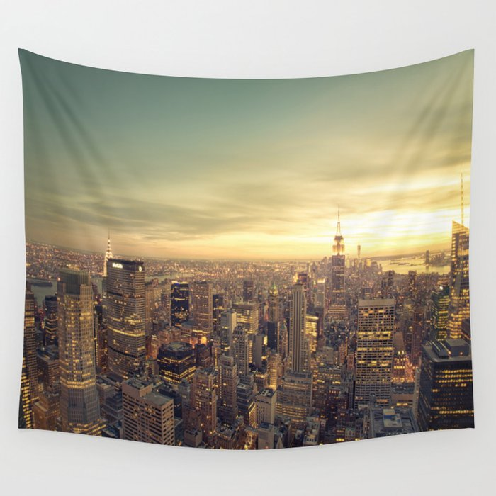 New York Skyline Cityscape Wall Tapestry by newyorkphotography ...